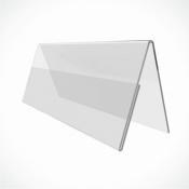 Подставка двусторонняя под ценник 15*21 см (Формат А5)